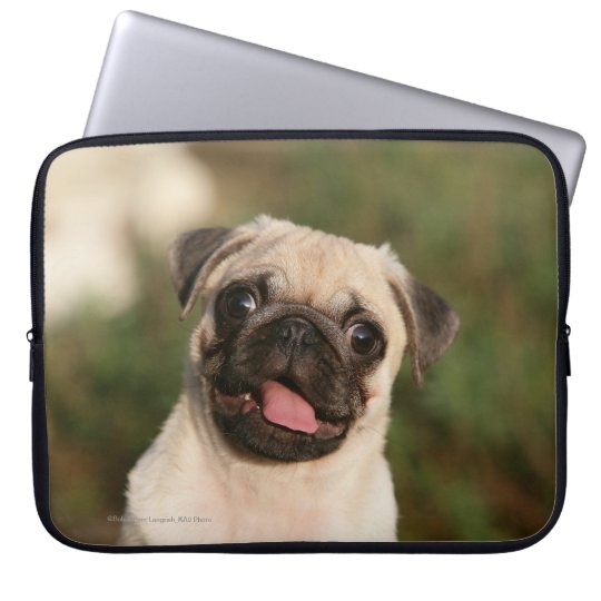Fawn Pug Puppy Panting Laptop Sleeve