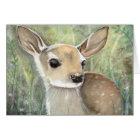 Fawn Watercolor Wildlife Art Card