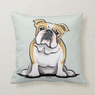 Fawn White Bulldog Sit Pretty Cushion