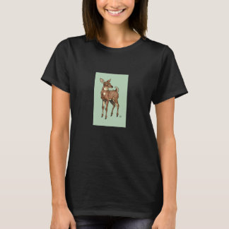 Fawn with Mint background T-Shirt