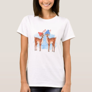 Fawns. Winter T-Shirt