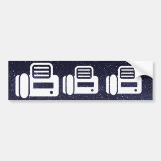 Fax Machines Minimal Car Bumper Sticker
