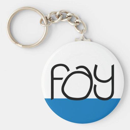 Fay black Keychain
