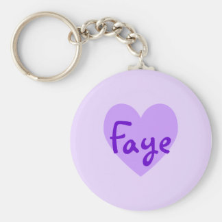 Faye in Purple Basic Round Button Key Ring