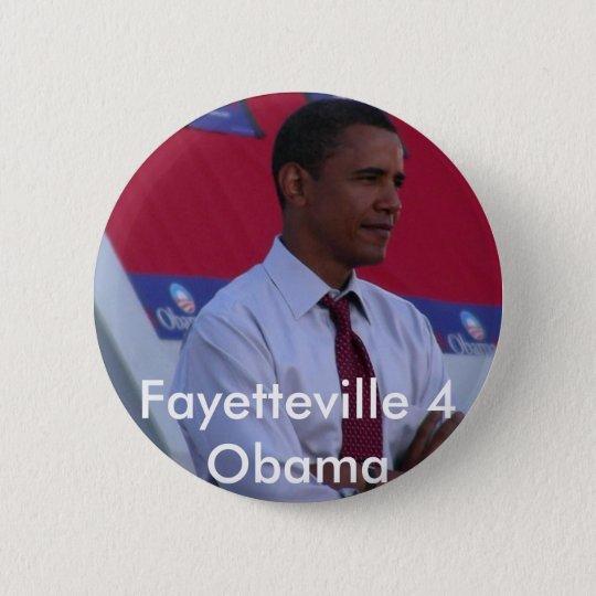 Fayetteville 4 Obama 6 Cm Round Badge