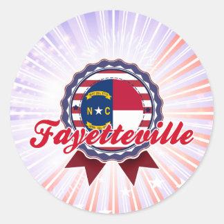 Fayetteville, NC Round Sticker