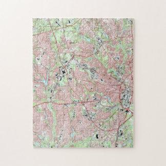 Fayetteville North Carolina Map (1997) Jigsaw Puzzle