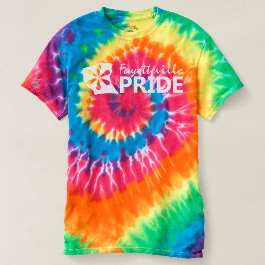 Fayetteville Pride On Rainbow Tie Dye T-Shirt