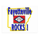 Fayetteville Rocks ! (blue) Post Card