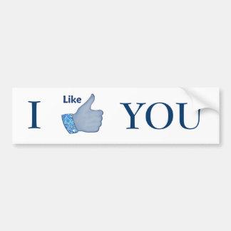 FB Like Button Car Bumper Sticker