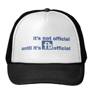 fb official mesh hat
