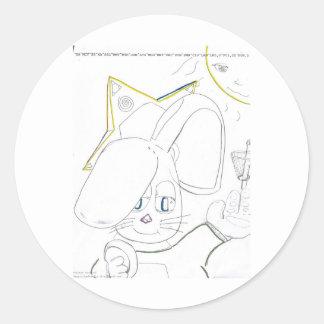 fbgolfwabbit round sticker