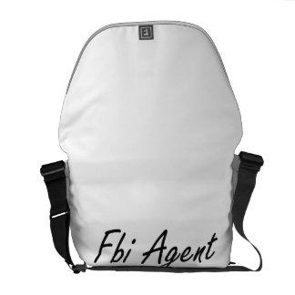 Fbi Agent Artistic Job Design Messenger Bags