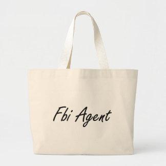 Fbi Agent Artistic Job Design Jumbo Tote Bag