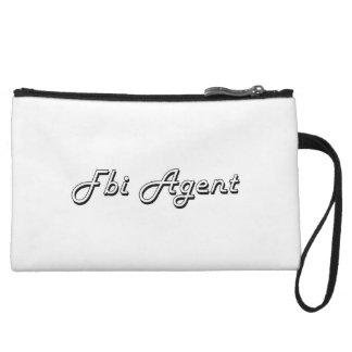 Fbi Agent Classic Job Design Wristlet Clutch