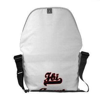 Fbi Agent Classic Job Design Messenger Bag
