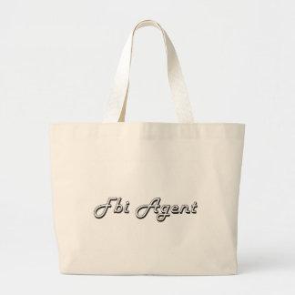 Fbi Agent Classic Job Design Jumbo Tote Bag
