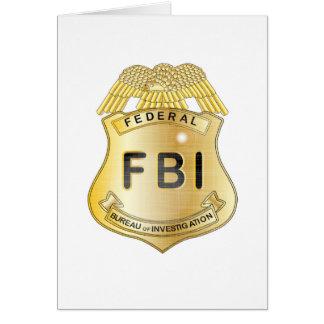 FBI Badge Greeting Card