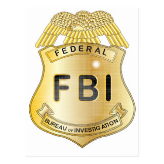 FBI Badge Postcard