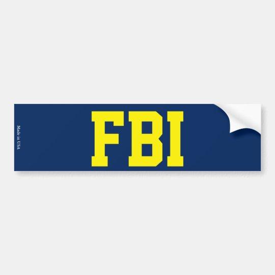 FBI Bumper Sticker
