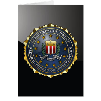 FBI Emblem Greeting Card