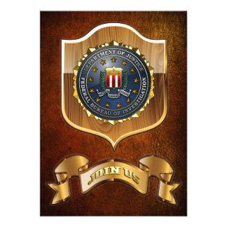 FBI Emblem Custom Invitations