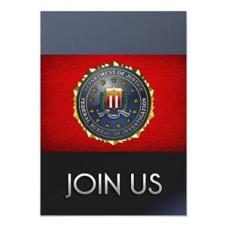 FBI Emblem 5x7 Paper Invitation Card