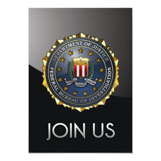 """FBI Emblem 5"""" X 7"""" Invitation Card"""