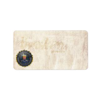 FBI Emblem Address Label