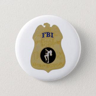 fbi female body inspector 6 cm round badge