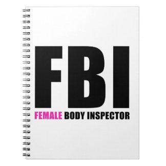 FBI Female Body Inspector Note Books