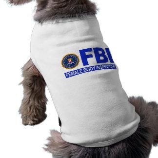 FBI Female Body Inspector Sleeveless Dog Shirt