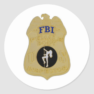 fbi female body inspector stickers