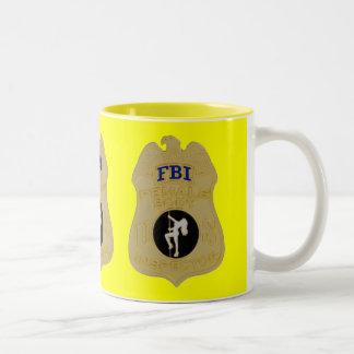fbi female body inspector Two-Tone mug