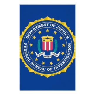 FBI Flag Stationery Paper