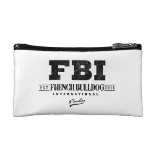 FBI FRENCH BULLDOG INT. COSMETICS BAGS