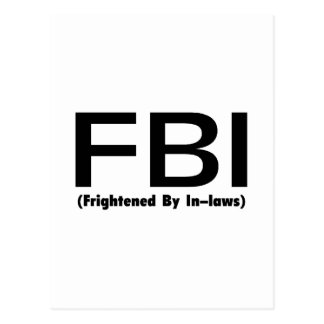 FBI Frightened By In Laws Postcard