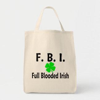 FBI Full Blooded Irish Clover Canvas Bags