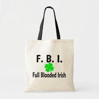 FBI Full Blooded Irish Clover Tote Bag