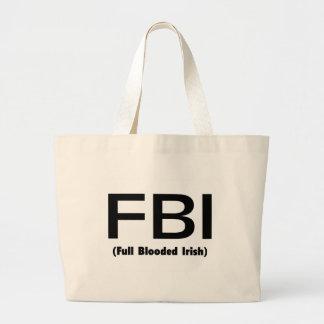 FBI Full Blooded Irish Jumbo Tote Bag