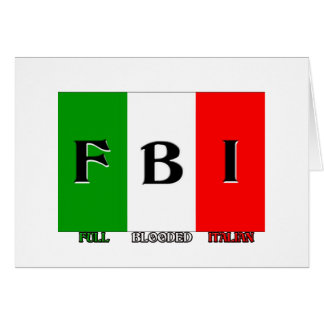FBI Full Blooded Italian Card