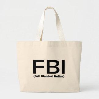 FBI Full Blooded Italian Jumbo Tote Bag