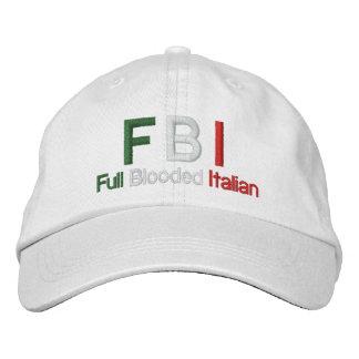 FBI Full Blooded Italian White Baseball Cap
