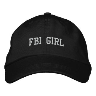 FBI GIRL EMBROIDERED HATS