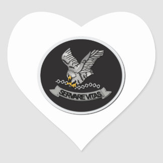 FBI Hostage Rescue Team without Text Heart Sticker