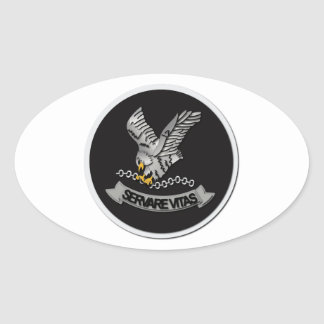 FBI Hostage Rescue Team without Text Oval Sticker
