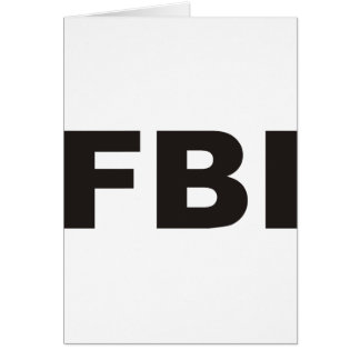 FBI Products & Designs! Greeting Card