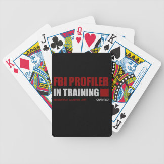 FBI Profiler in Training Bicycle Playing Cards