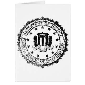 FBI Rubber Stamp Card