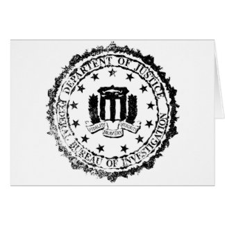 FBI Rubber Stamp Greeting Card
